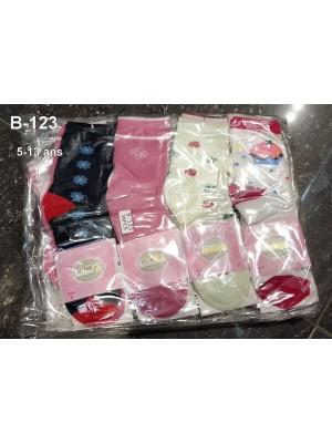 [B-123] Chaussettes à motifs variés