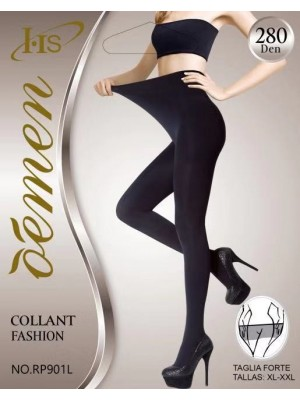 [RP901L] Collants 280 deniers grandes tailles