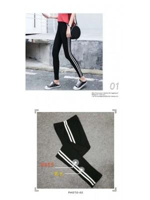 [3625] Legging avec bandes latérales blanches