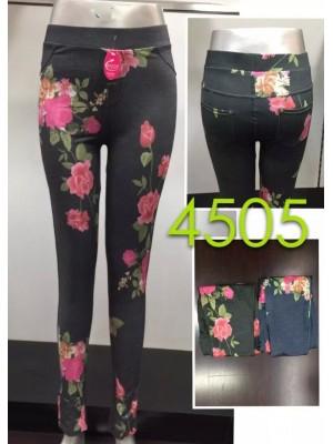 [4505] Leggings à imprimé fleuri
