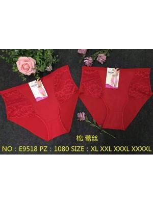 [9518] Culottes rouges avec dentelle sur les côtés