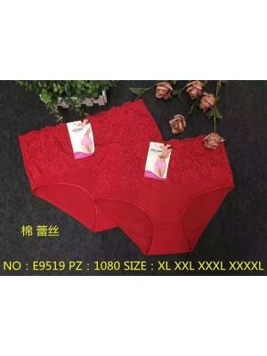 [9519] Culottes rouges avec dentelle