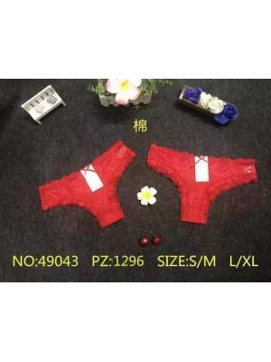 [49043] Culottes rouges dentelle