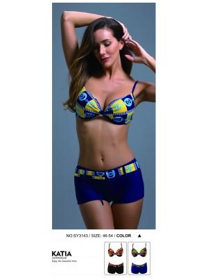 [3143] Bikini imprimé chaine avec short