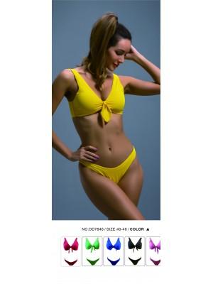 [7848] Bikini uni à larges bretelles