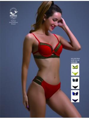 [7854] Bikini à liserets pailletés