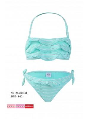 [13161] Bikini à rayures ajourés