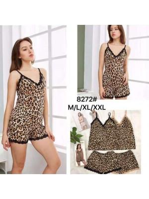 [8272] Nuisette à motif léopard