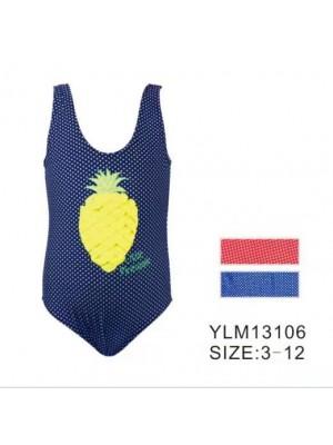 [13106] Maillot à imprimé pois et ananas