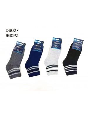 [D6027] Chaussettes hommes avec rayures colorées en haut
