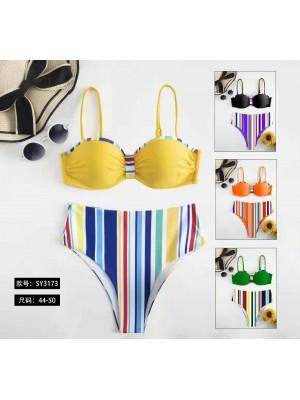 [3173] Bikini femme avec rayures verticales
