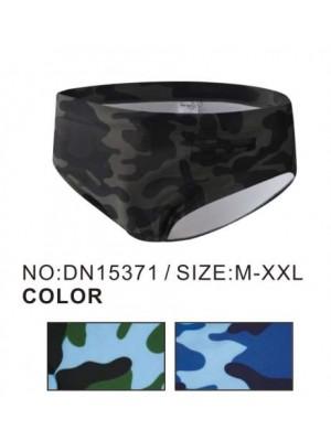 [15371] Slip de bain à imprimé camouflage militaire